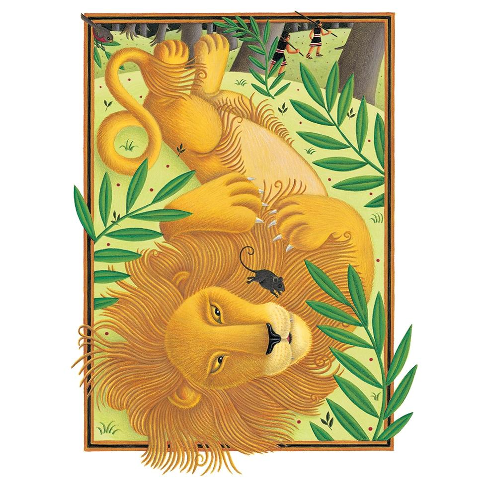 Original Children's Book Illustrations for Sale - Aesop's Fables