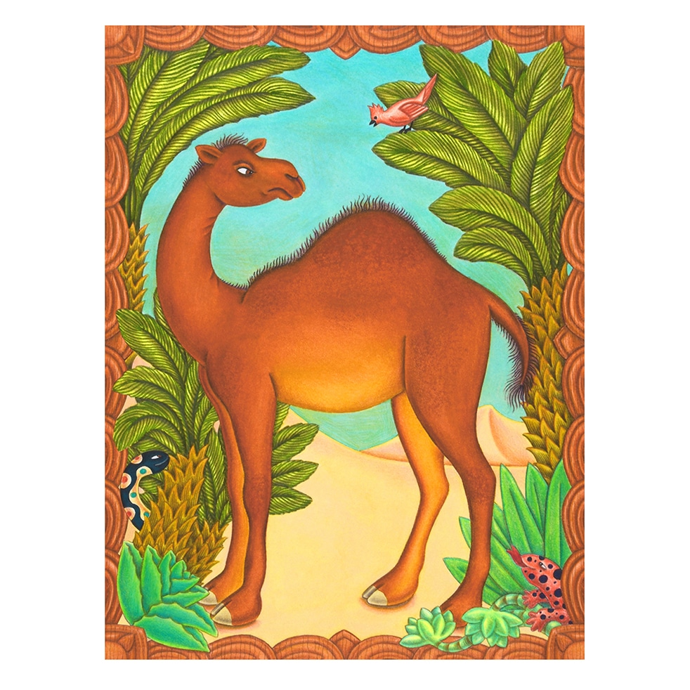 children's book illustrations for sale - How the Camel got his Hump