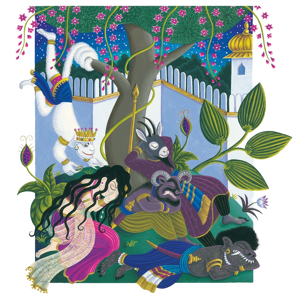 Original Children's Book Illustrations for Sale - Tales from India